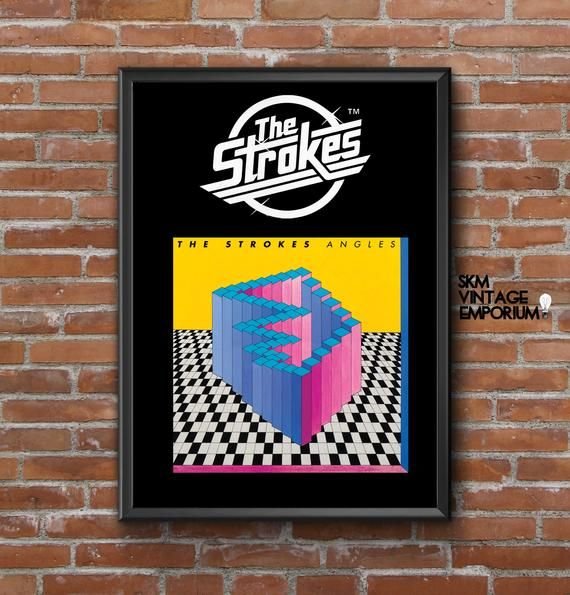 The Strokes Angles Album Artwork Poster Print Sizes A3 A0 Free Uk Postage Worldwide Shipping Thestrokesart Band Poster Prints Rock Posters Band Posters