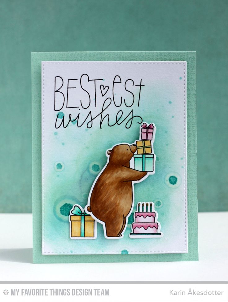 9 best mft birthday bears images on pinterest greeting cards for handmade card from karin kesdotter featuring the birdie brown birthday bears stamp set and die bookmarktalkfo Images