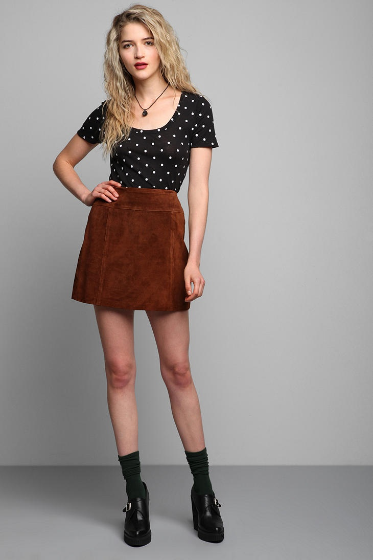 1000+ images about Brown suede skirt outfits on Pinterest | Mini skirts Skirts and Cable knit ...