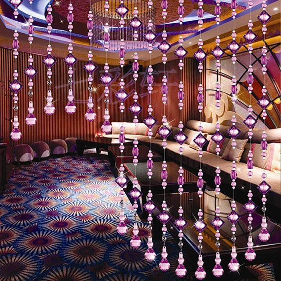 handmade acrylic hanging bead curtains,beaded doorwar curtains, bead curtains for doors and home decoration Y28-2