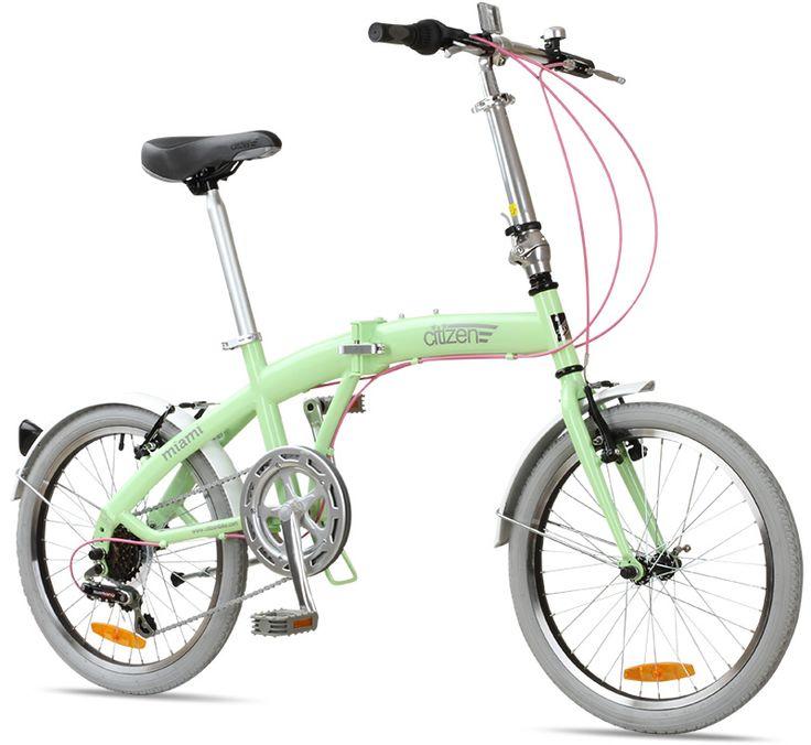 """199$ MIAMI Citizen Bike 20"""" 6-speed Folding Bike with Steel Frame"""