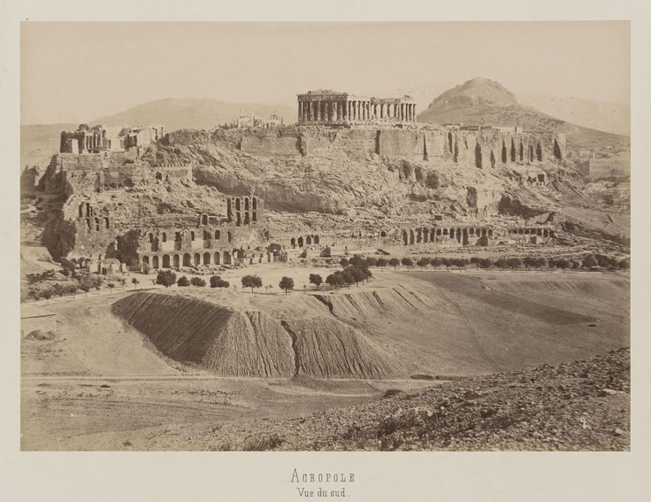 Athènes. Vue du sud-ouest de l'Acropole © Musée Guimet, Paris, Distr. Rmn / Image Guimet