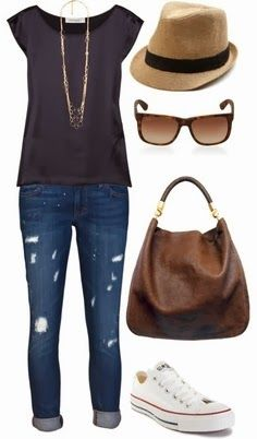 I love this outfit although I would do cute flats and not ripped jeans to make it more professional looking for work.