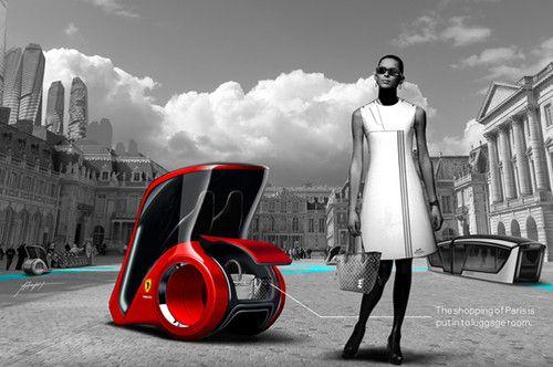 personal commuter, French cars, Parsonal Commuter, Share-A-Car Concept, Daisuke Iguchi, futuristic cars