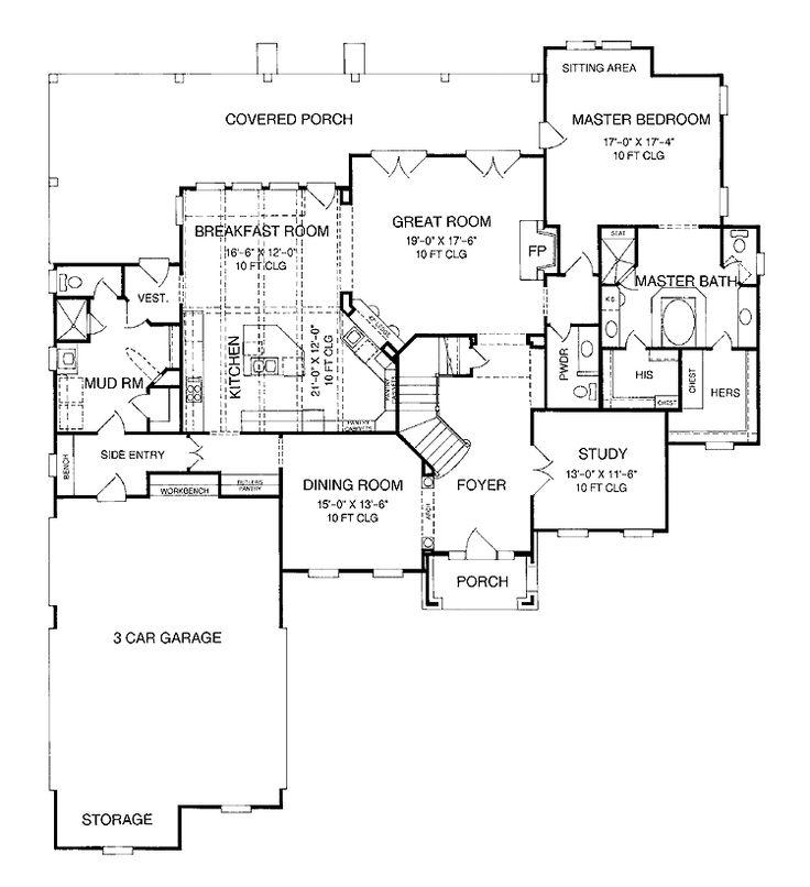 Great Mudroom Ground Level Floor Plans Pinterest
