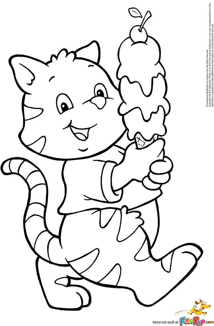 ice cream cat 000  desenhos animais gatinhos