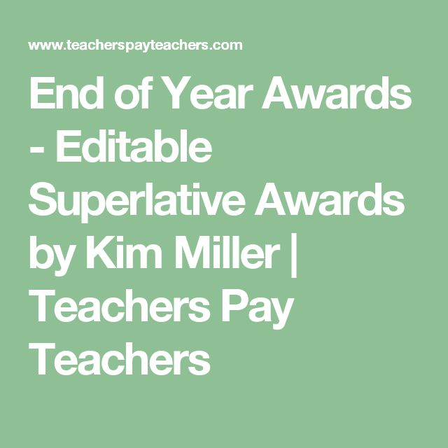 End of Year Awards - Editable Superlative Awards by Kim Miller | Teachers Pay Teachers