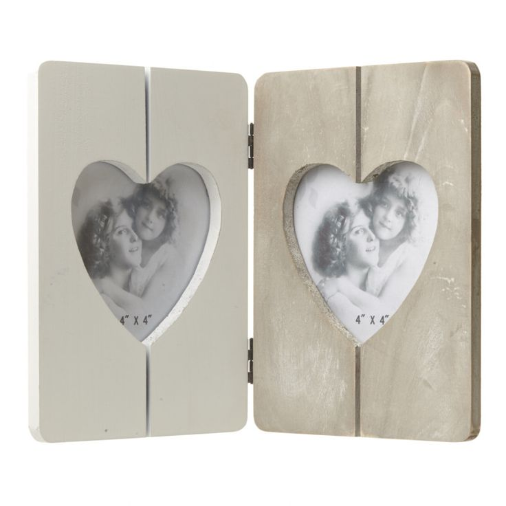 Now available online: Wooden Double Hea... Check out our quirky gifts here! http://www.feelingquirky.co.uk/products/wooden-double-heart-frame?utm_campaign=social_autopilot&utm_source=pin&utm_medium=pin