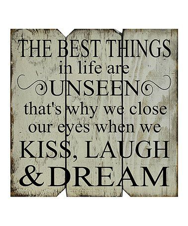 Love this White & Black 'The Best Things in Life Are Unseen' Wall Art on #zulily! #zulilyfinds