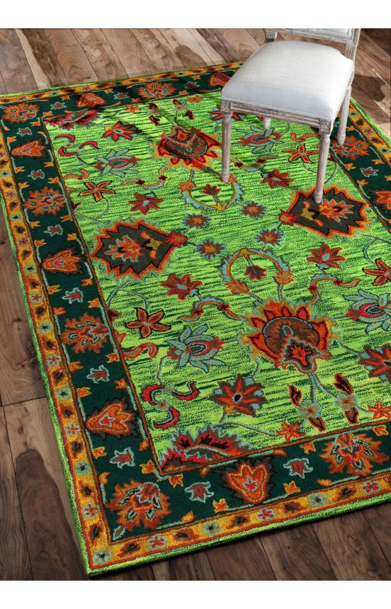 Rugs USA Overdye RE21 Green Rug Summer Sale Up To 80 Off