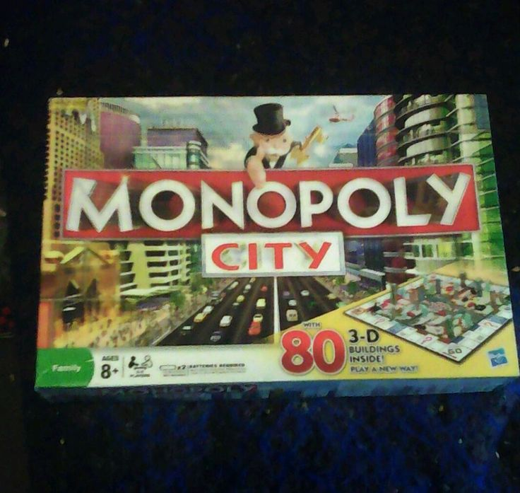 MONOPOLY CITY 3D BUILDINGS BOARD GAME HASBRO