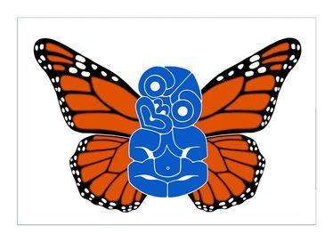 Brad Novak   Tiki with Danaus Plexippus Wings 1.3