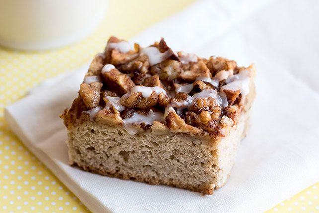 Apple-Crowned Coffee Cake
