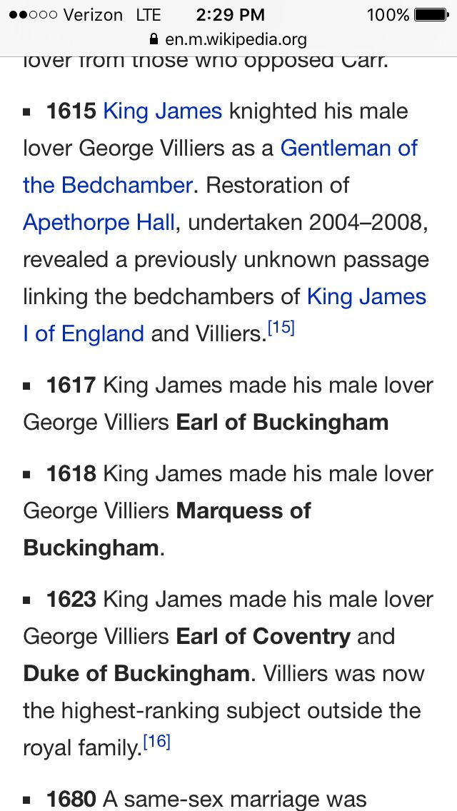 """valeria2067: """" deepdarkwaters: """" beautyagegoodnesssize: """" phocion: """" margotkim: """" This is the greatest progression of events I have ever read, where's my historical gay romance novel about this """" You may be sure that I love the Earl of Buckingham..."""