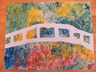 Monet : tape + peinture doigts