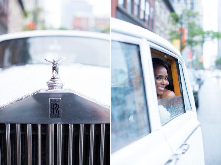 George Restaurant bride in Rolls Royce
