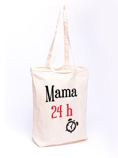 Torba bawełniana - Mama 24 - full color w Allbag-Allprints na DaWanda.com