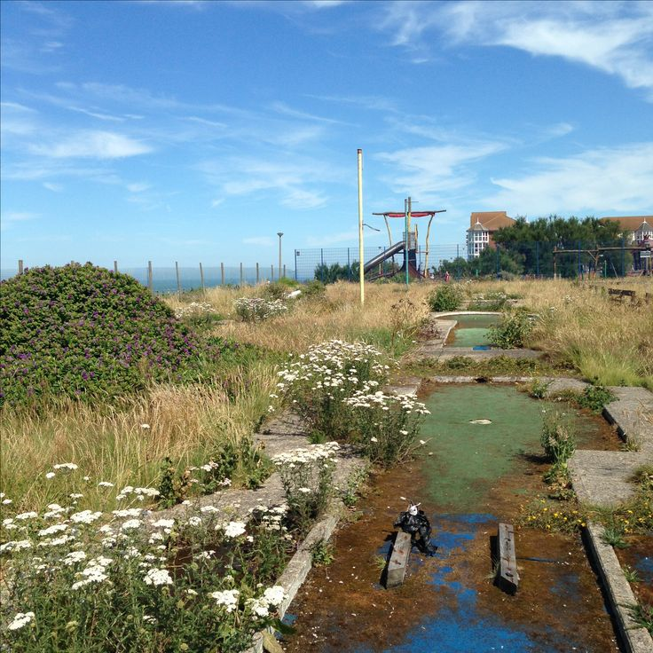 Overgrown Cliftonville crazy golf course, Margate.