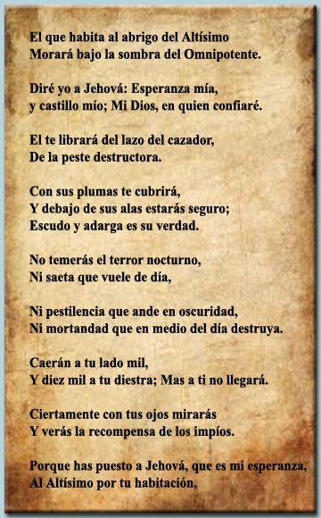 Salmo 91 en espanol salmo 91 en espanol ideas for the for Pinterest en espanol