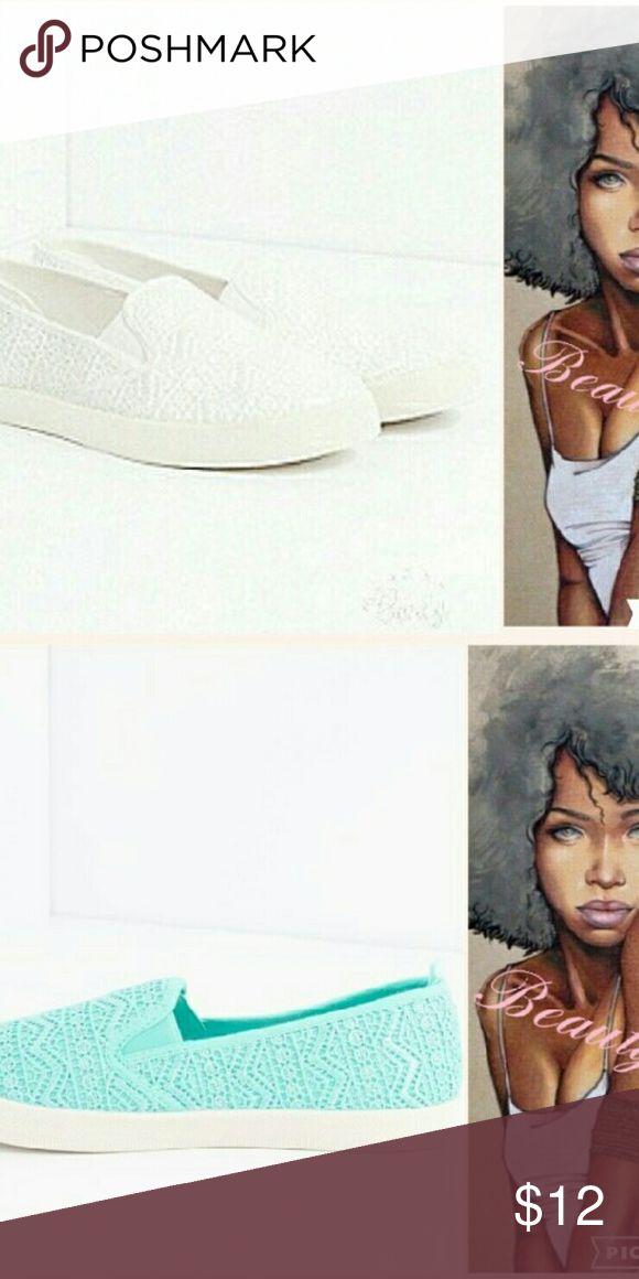 "Selling this ""White ""Aztec Crochet Skate Shoe on Poshmark! My username is: bmt_wear. #shopmycloset #poshmark #fashion #shopping #style #forsale #Rue 21 #Shoes"