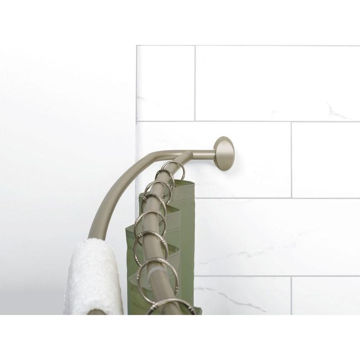 Glacier bay 72 in double curved shower rod in brushed
