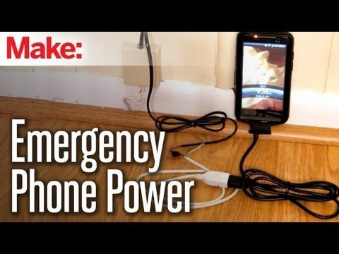 Tap in to your landline box (even if you don't have a landline active) for a wee bit of emergency phone power!