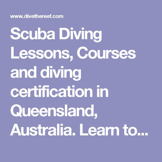 Scuba Diving Lessons, Courses and diving certification in Queensland, Australia. Learn to Dive on the Great Barrier Reef!