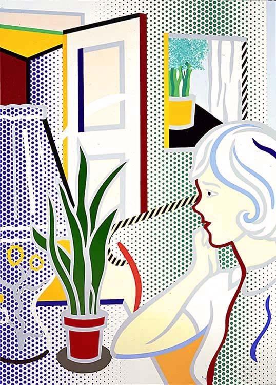 Roy Lichtenstein Interior With Woman 1997