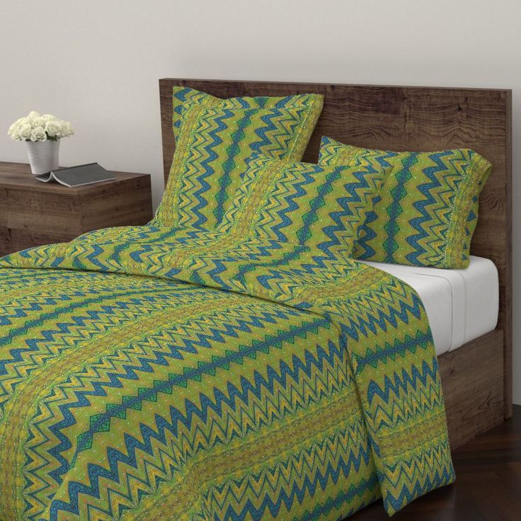 Wyandotte Duvet Cover featuring Weavy by joancaronil | Roostery Home Decor