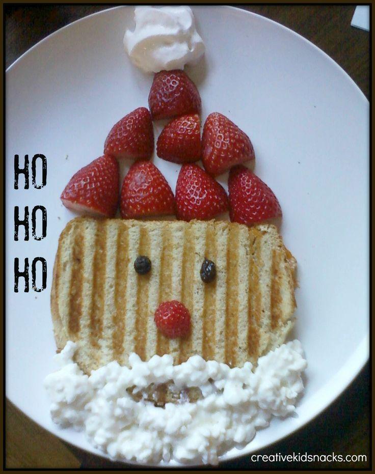 Santa Panini Sandwich #Christmas #kids #kerstdiner #kinderen #kinderdiner