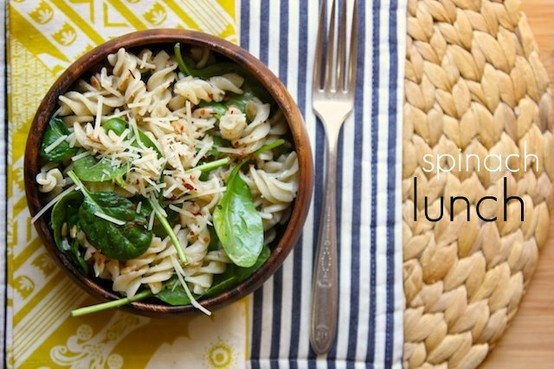 Spicy Spinach Pasta for Lunch! Yummy! ♥ | Food and Meals Time ...