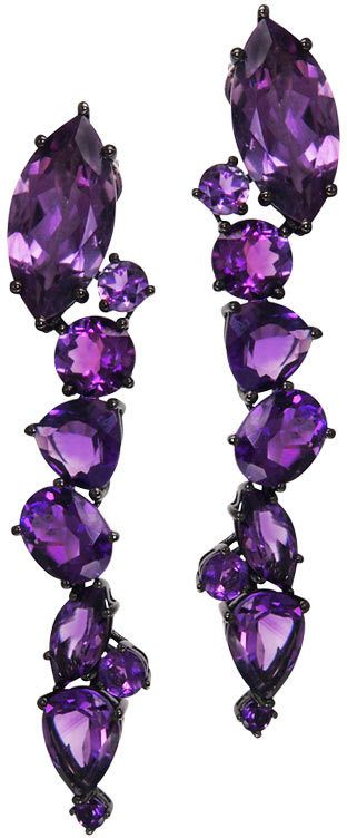 "Plukka ""Viva"" Amethyst Drop Earrings"