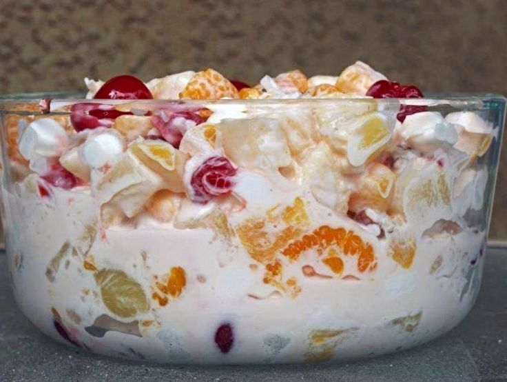 Ambrosia/Marshmallow Fruit Salad ~ Recipe of today