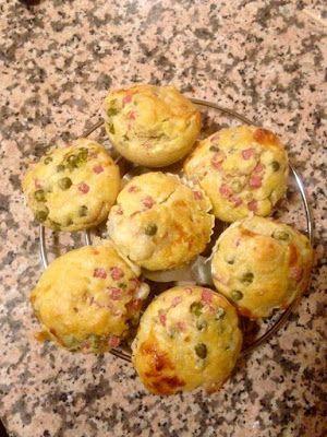 Art & Candy: Muffins salati con emmental, prosciutto e piselli