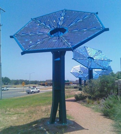 """Solar Sunflower"" Collectors Lend Credibility To ""Solar Farm"""