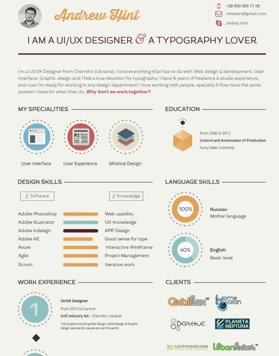 Best Cv Images On   Creative Curriculum Cv Ideas And