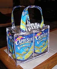 I'm going to use this site to make a juice box purse or lunch bag. We've been saving juice boxes for quite a while.