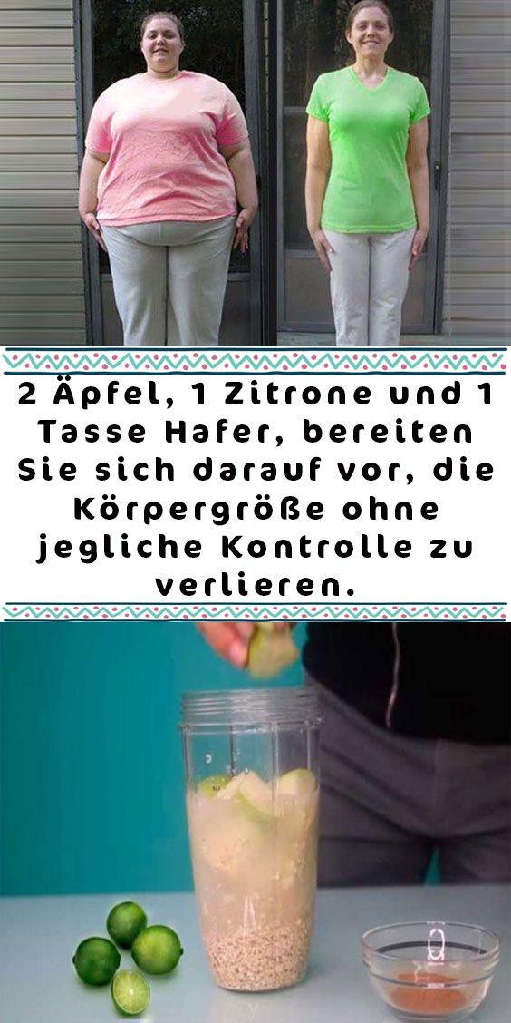 2 Äpfel, 1 Zitrone und 1 Tasse Hafer, bereiten Sie sich darauf vor, die Körper…