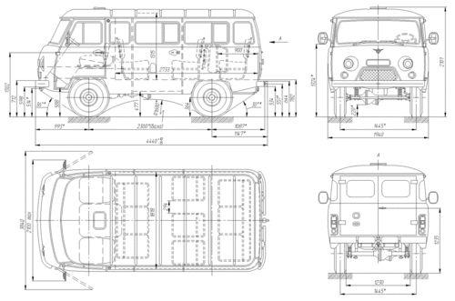 UAZ-452  UAZ scheme Russia