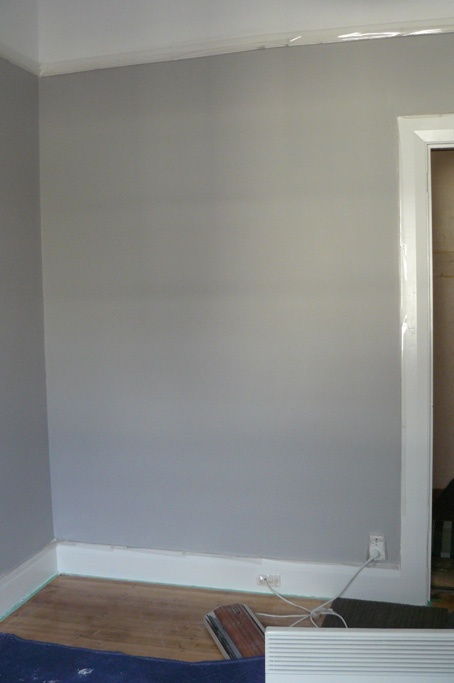 Taubmans Grey Comfort paint