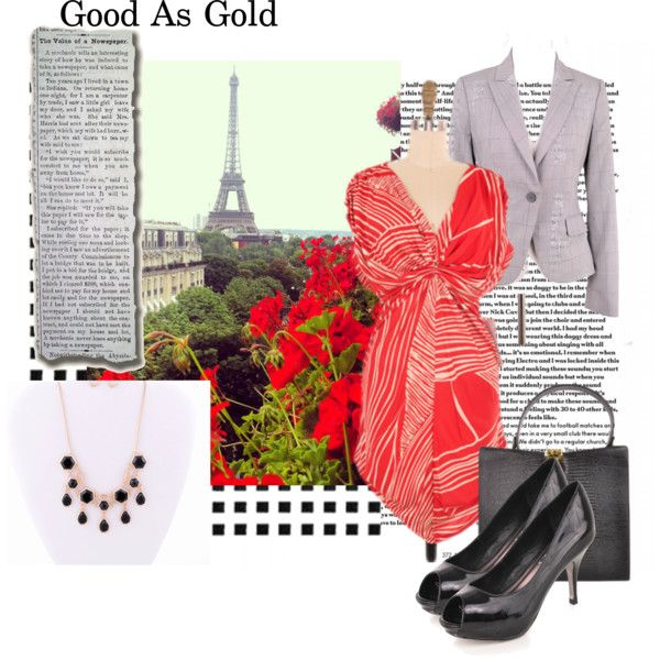 """""""Shop for a Cause featuring Lady By Yoanna Baraschi Red Print Dress"""" by closetdash on Polyvore #shopforacause #red #dress #ladybyyoannabaraschi"""