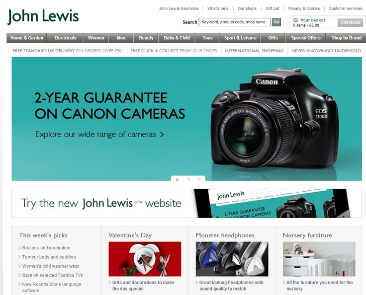 Even websites full of content use whitespace. The John Lewis website has lots of content, but the whitespace  around the content in the banner makes that offer the one thing that really hits you in the face, before you look at the other content on the page.