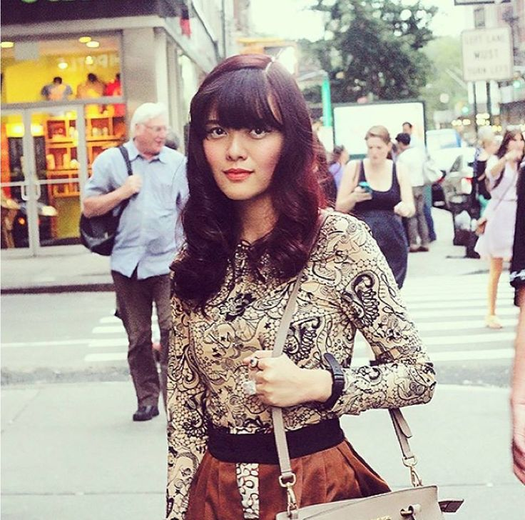 Blogger Sonia Eryka wearing bebaroque Tattooed Lady Lux Body suit at New York Fashion Week