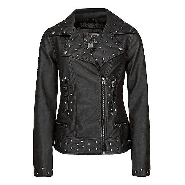 BKE Asymmetrical Faux Leather Jacket ($90) ❤ liked on Polyvore
