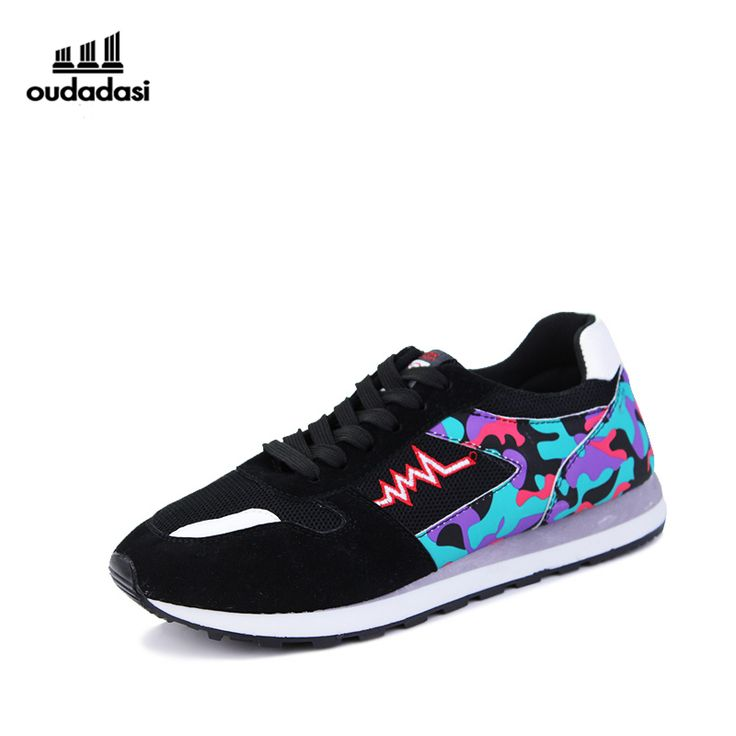 OUDADASI Popular Men's Running Shoes Breathable Vamp Exercise Colorful  Sneakers For Run Attractive Design Lace-