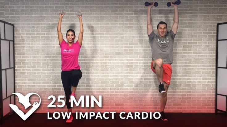 25 Min Standing Low Impact Cardio Workout for Beginners with No Jumping - Beginner Workout Routine - YouTube