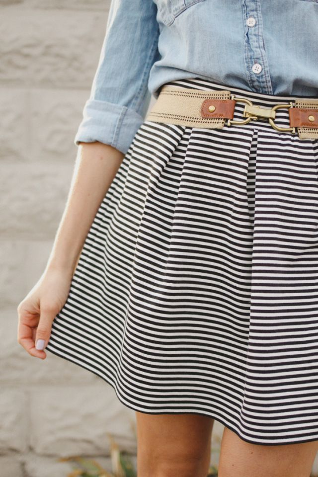 DIY Pleated Knit Skirt - FREE Sewing Tutorial