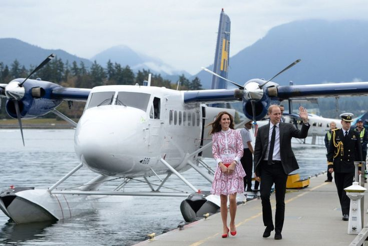 The Duke and Duchess of Cambridge arrive on a float plane in Vancouver, where the couple's first stop is the city's notorious Downtown Eastside.