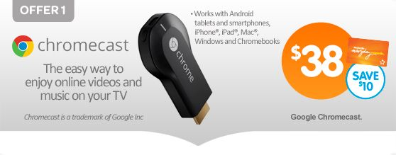 Chromecast is available for $38 from Big W with Everyday Rewards