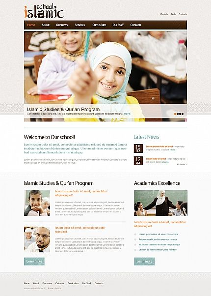 Islamic School Moto CMS HTML Templates by Mercury